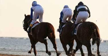 horse racing on beach